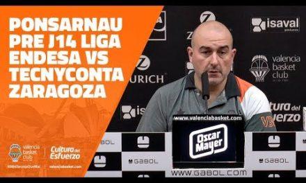 Ponsarnau pre J14 Liga Endesa vs Tecnyconta Zaragoza