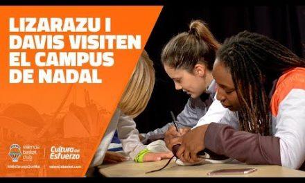 Lizarazu y Davis visitan el Campus de Navidad