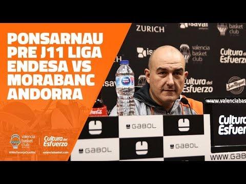 Ponsarnau pre J11 Liga Endesa vs Morabanc Andorra