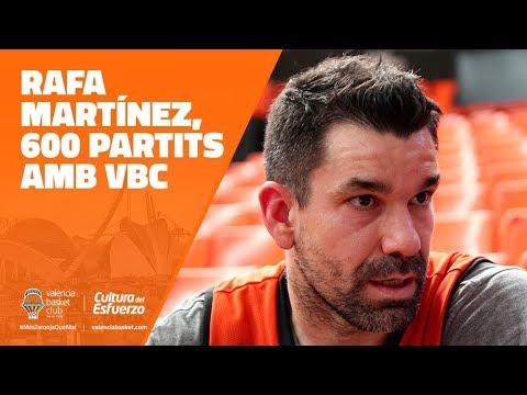 Rafa Martínez cumple 600 partidos con Valencia Basket