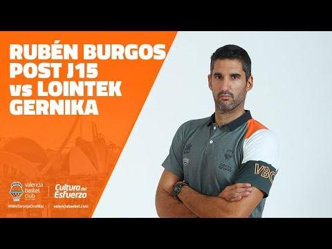 Rueda de prensa de Rubén Burgos post J15