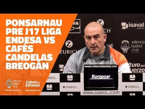 Ponsarnau pre J17 Liga Endesa en Cafés Candelas Breogán