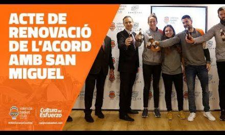 San Miguel renueva su colaboración con Valencia Basket