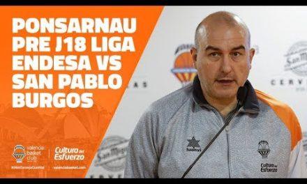 Ponsarnau pre J18 Liga Endesa vs San Pablo Burgos