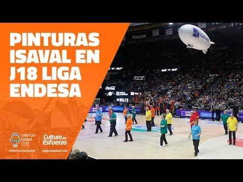 Pinturas Isaval en J18 Liga Endesa vs San Pablo Burgos