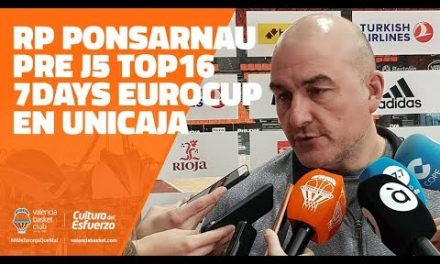 RP Jaume Ponsarnau Pre J5 7Days Eurocup en Unicaja