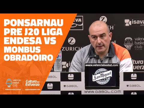 Ponsarnau pre J20 Liga Endesa vs Monbus Obradoiro