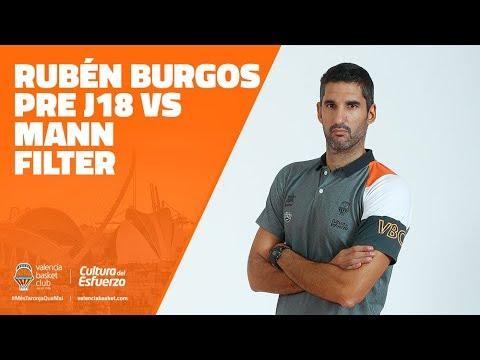 Rubén Burgos Pre J18 vs Mann Filter