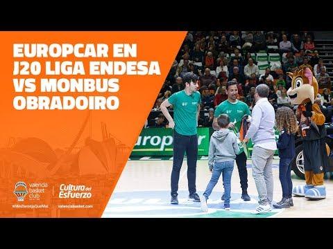 Europcar en J20 Liga Endesa vs Monbus Obradoiro