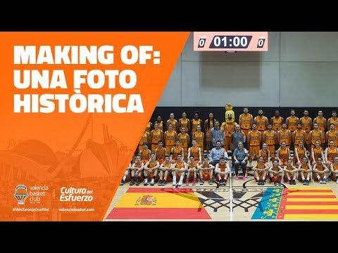 Making of: Una foto histórica para el Valencia Basket