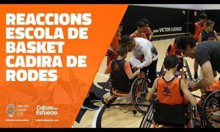Reaccions escola de basket en cadira de rodes