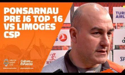 Ponsarnau pre J6 Top 16 7DAYS Eurocup vs Limoges CSP