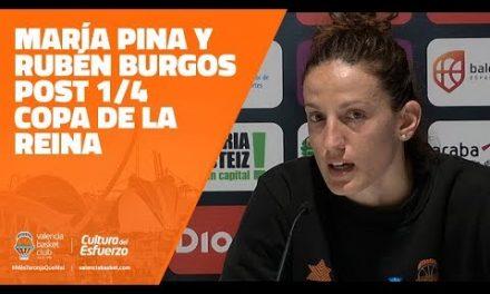 María Pina y Rubén Burgos post 1/4 Copa de la Reina