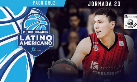 Paco Cruz, Mejor jugador Latinoamericano de la Jornada 23 de Liga Endesa