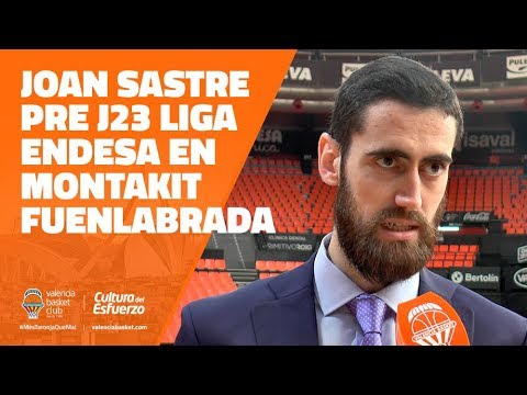 Joan Sastre pre J23 Liga Endesa en Montakit Fuenlabrada