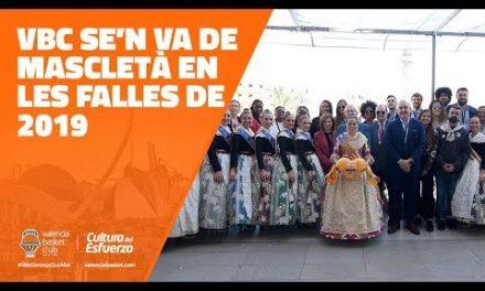 Valencia Basket visita la Mascletà en las Fallas 2019