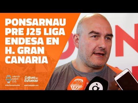 Ponsarnau pre J25 Liga Endesa en Herbalife Gran Canaria