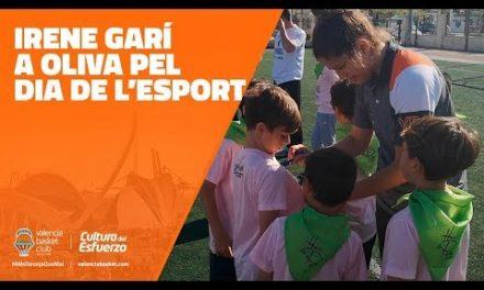 Irene Garí a Oliva pel dia de l'esport