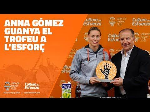 Anna Gómez gana el Trofeo al Esfuerzo