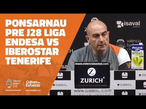 Ponsarnau pre J28 Liga Endesa vs Iberostar Tenerife