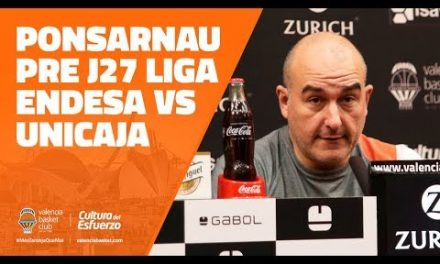 Ponsarnau pre J27 Liga Endesa vs Unicaja