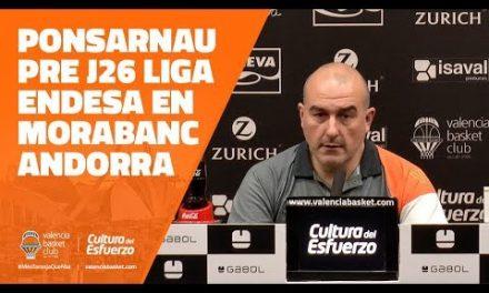 Ponsarnau pre J26 Liga Endesa en Morabanc Andorra