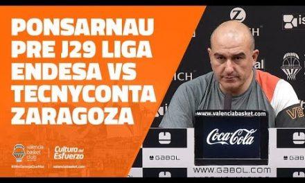 Ponsarnau pre J29 Liga Endesa en Tecnyconta Zaragoza