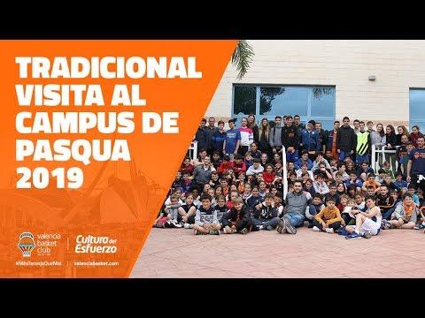 Tradicional visita al Campus de Pascua de Valencia Basket 2019