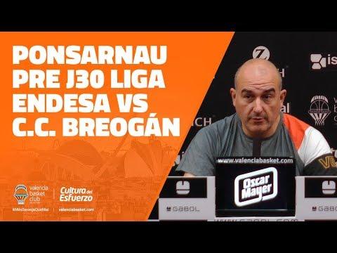 Ponsarnau pre J30 Liga Endesa vs Cafés Candelas Breogán