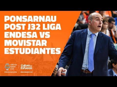 Jaume Ponsarnau post J32 Liga Endesa vs Movistar Estudiantes