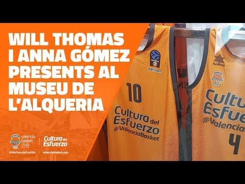 Las camisetas de Will Thomas y Anna Gómez ya están en el museo de L'Alqueria del Basket