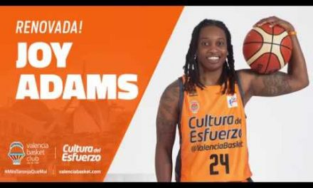 Joy Adams renueva con Valencia Basket