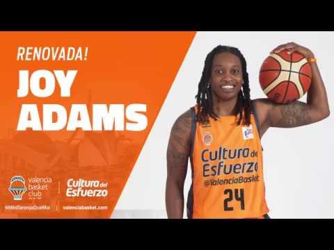 Joy Adams renueva con Valencia Basket