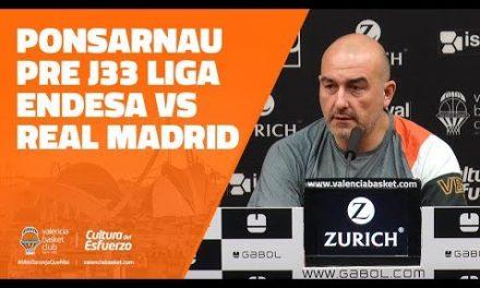 Ponsarnau pre J33 Liga Endesa en Real Madrid