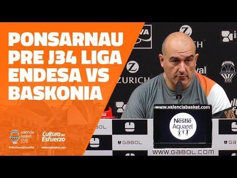 Ponsarnau pre J34 Liga Endesa vs Baskonia