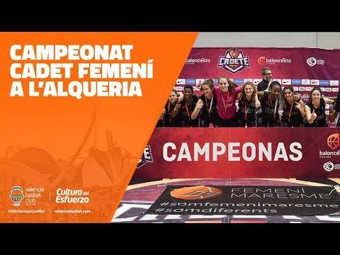 Así fue el campeonato cadete femenino en L'Alqueria del Basket
