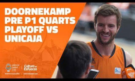 Aaron Doornekamp pre P1 Cuartos de Playoff Liga Endesa vs Unicaja