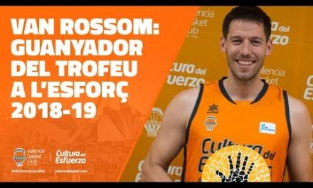 Sam Van Rossom, ganador del Trofeo al Esfuerzo 18-19
