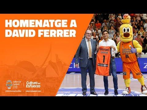Homenaje a David Ferrer en la Fonteta
