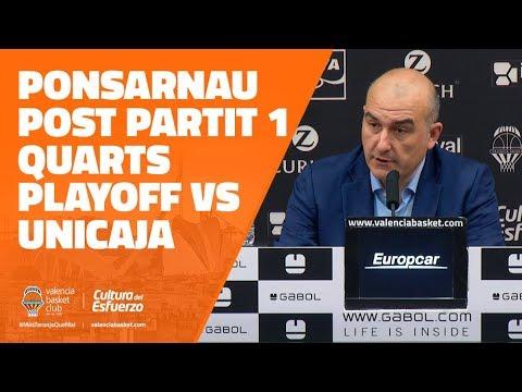 Ponsarnau post P1 Cuartos Playoff vs Unicaja