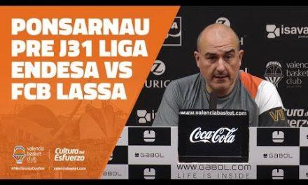 Ponsarnau pre J31 Liga Endesa en FCB Lassa