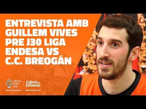 Entrevista con Guillem Vives pre J30 Liga Endesa vs Cafés Candelas Breogán