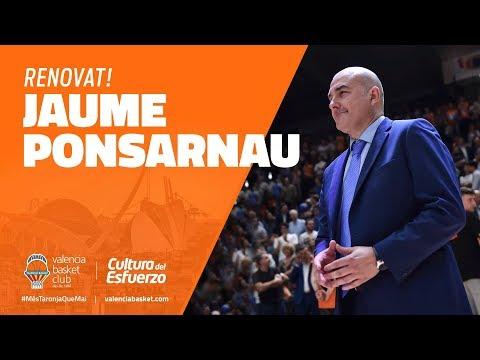 Jaume Ponsarnau renueva con Valencia Basket
