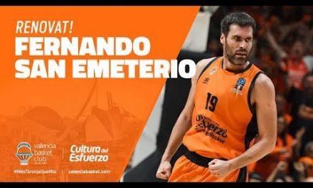 Fernando San Emeterio renueva con Valencia Basket