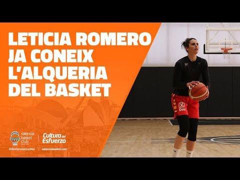 Leticia Romero ya conoce L'Alqueria del Basket