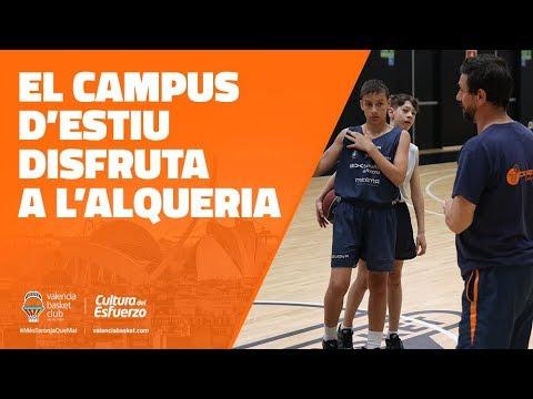 El Campus de Verano disfruta en L'Alqueria del Basket