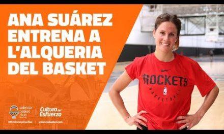 Ana Suárez entrena en L'Alqueria del Basket