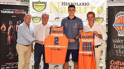 Vanja Marinkovic, presentado como jugador taronja en Herbolario Navarro