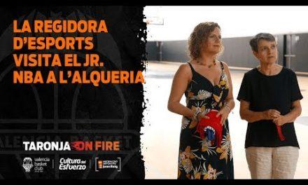 La regidora d'esport visita el Jr. NBA a L'Alqueria