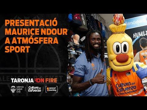 Presentación de Maurice Ndour en Atmósfera Sports Alaquàs